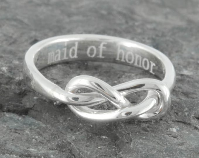 Infinity Ring, Maid of Honor Gift, Best friend, Promise, Personalized Ring, Friendship, Sisters Ring, Mother Daughter, Bridesmaid Gift