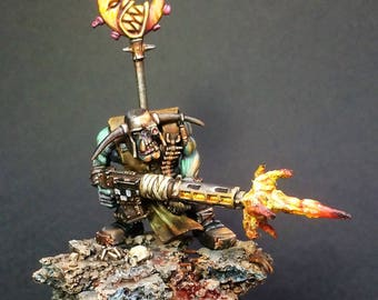 warhammer 40k converted ork with big shoota
