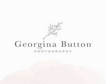 Floral Logo Design, Premade Photography Branding, Premade Botanical Logo, Floral Photography Logo, Blogger Branding, Business Logo Design