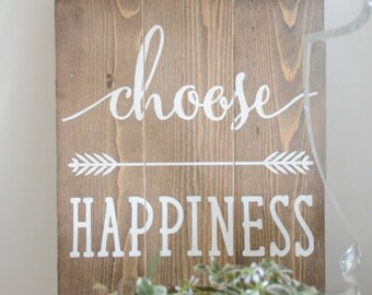 Choose Happiness, Mindful Decor, Cheery Decor, Happiness Decor, Happiness Sign, Happiness Printable, Happiness Quote, Mindfulness Decor