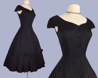 New Look 1950s Dior inspired Party Dress with bows detail / Designer Jonathan Logan / XS
