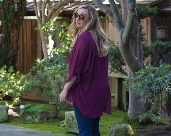 SALE! Purple Berry Kimono Cardigan