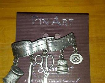 Sewing Art Pin