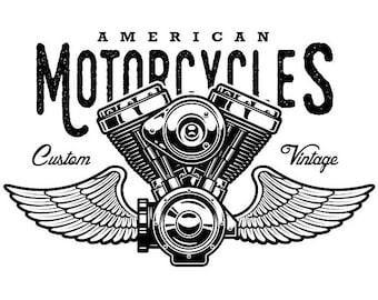 Mechanic Logo 19 Piston Crossed Cylinder Engine Auto Car Part