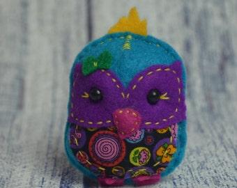 Handmade Felt Owl