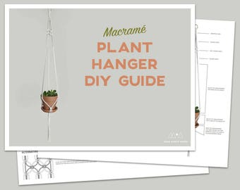 Digital Download DIY Guide for a Macrame Plant Hanger | PDF How To | Macrame Pattern | Macrame Knot Guide