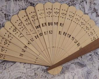 Beautiful Handmade Bamboo Fan - Gruda Indonesian Airways