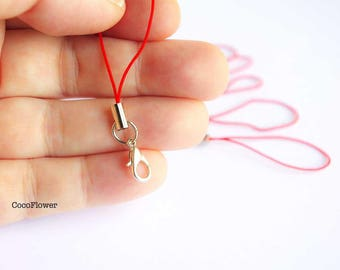Red Lobster 20 strap, attached cell phone strap charm Keyring