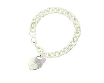 Silver Plated Sweet 16 Bracelet CC (Free Shipping)