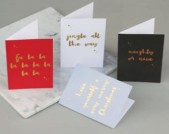 Mixed set of Christmas cards - Five