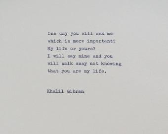 Khalil Gibran Quote