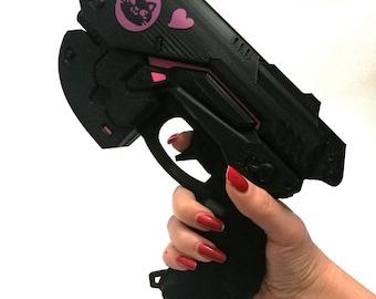 Black cat D.Va gun Overwatch cosplay weapon prop- ready to use - Dva black cat skin cosplay
