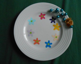Flower plate with beaded stem