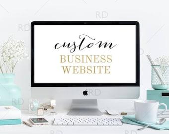 WEEKEND SALE! Website Design / Custom Website / Website Design / Small Business Custom Wordpress Website / Etsy Business Website Design