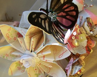 Butterfly Bouquet Shabby Chic Design