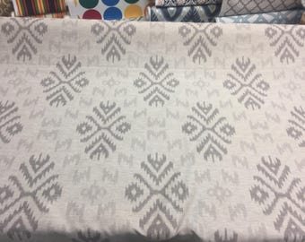 Ikat linen Cotton Polyester Drapery Upholstery fabric by the yard