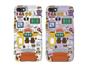 Friends TV Show Central Perk Phone Case   Purple Door Friends Comedy Show   Hardcover iPhone & Samsung   Purple or White   Ships from NYC