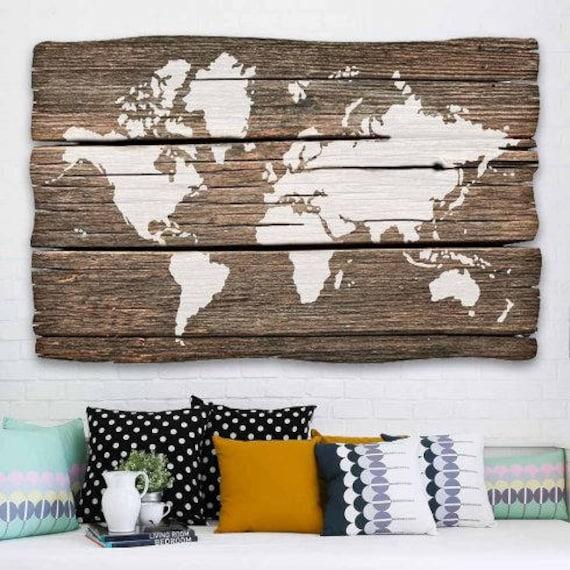 monde carte murale art pochoir r utilisables pochoirs pour. Black Bedroom Furniture Sets. Home Design Ideas
