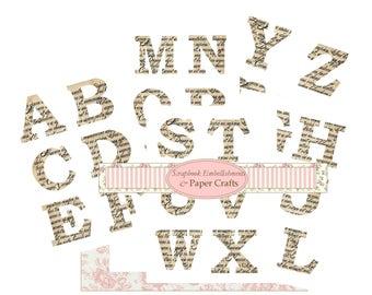 Instant Download Script Extra Large Letters  Full Alphabet Embellishments