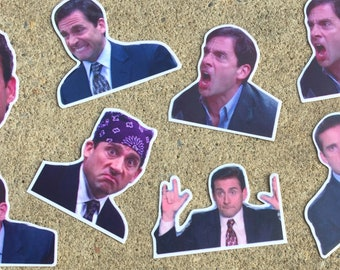 Decal(Michael from the Office Stickers)-Laptop Decal/Laptop Sticker/Phone Decal/Phone Sticker/Car Sticker/Car Decal/Water Bottle Sticker