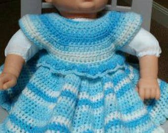 Hand crocheted Baby Dress