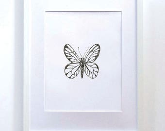 Butterfly Print, Black and White Print, Butterfly, Black and White Art, Black and White Wall Art, Home Decor, Art Print, Art, Illustration