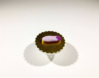 Miniature Flash purple icing and decoration purple Pearlescent polymer clay