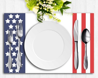 Printable Placemats, Paper Placemat, 4th of July Placemat, Independence Day Print, Instant Download, Thanksgiving Placemat, Dinner Party