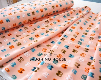 Fancy Steps (Pink) - Sidewalk - Rae Hoekstra - Interlock Knit - Organic Cotton - Cloud 9 Fabrics - 1 Yard
