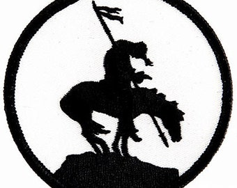 END of the TRAIL iron-on PATCH symbol Native American iconic symbol embroidered