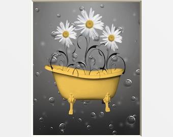 Yellow bathroom | Etsy