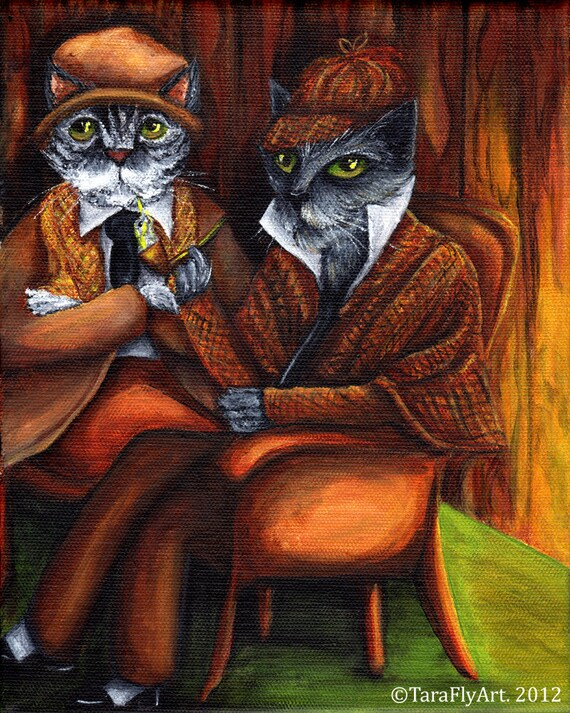 Sherlock Holmes and Watson 5x7 Fine Art Print