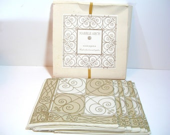 Set of Six Screen Printed Napkins