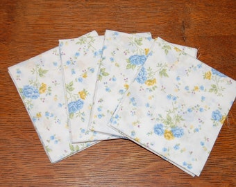 """SALE 4for4! Rescued Bed Sheet Fat Quarter 
