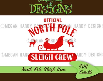 North Pole Sleigh Crew SVG