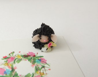 Little baby lamb Wee Little Miniature Figurine