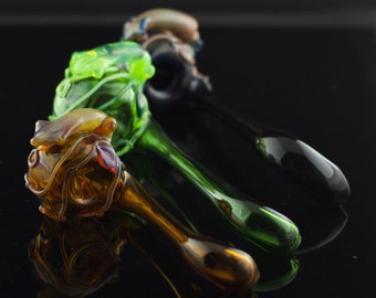 Squid Large Glass Sherlock Pipe in Your Choice of Color