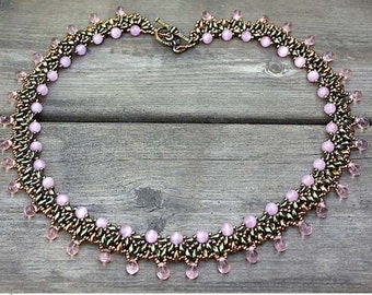 Cat Paw - DIY tutorial, beaded necklace with Super Duo beads