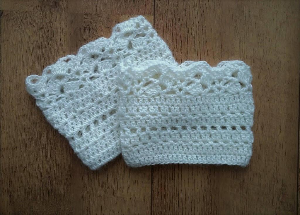 Crochet Boot Cuffs pattern US terms, Lace Boot socks crochet pattern ...