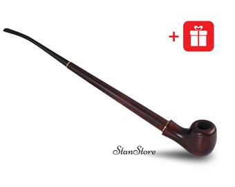 Long Stem Elegant Smoking Pipe Lord of the Rings GANDALF Wooden Pipe LOTR Pipe for Tobacco Wedding gift Churchwarden HOBBIT tobacco pipe