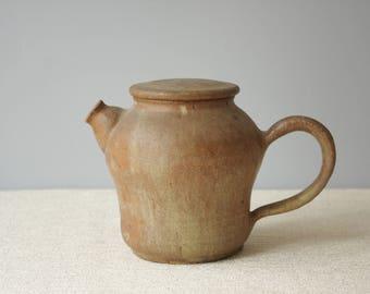 Vintage Handmade Studio Pottery Teapot, Bennington Pottery Style Stoneware