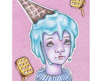 Ice & Waffle Cream (Print)