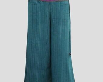 Hmong Pants / Wide Leg Pants Women's / Palazzo Pants / Ethnic Pants / Woven Cotton Pants