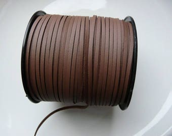 The meter 3 mm chocolate brown leather cord