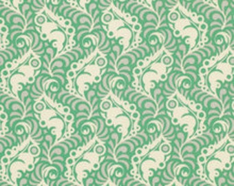 Lottie Da Collection, Featherleaf in Turquoise by Heather Bailey for Free Spirit Fabrics 4088