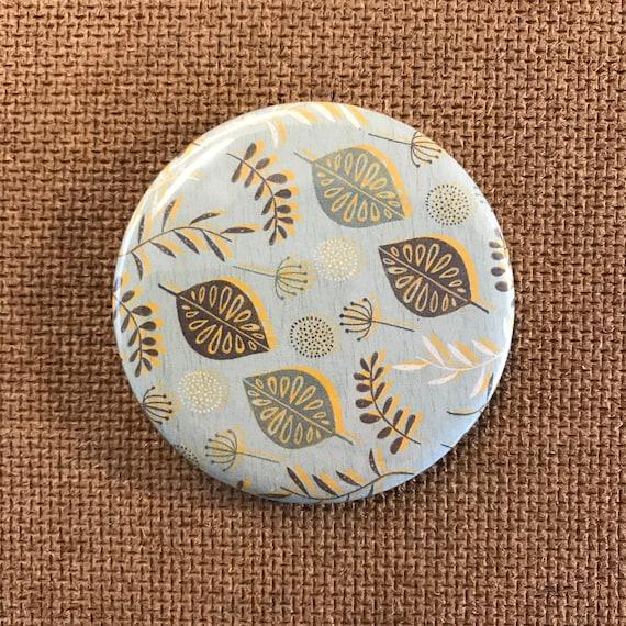 Leaves & seeds (Blue) - Fridge Magnet