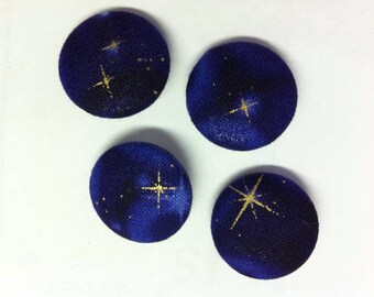 Star Fabric Covered Buttons