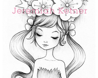 Bloom - Coloring Page