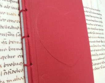 Notebook with heart, Japanese binding