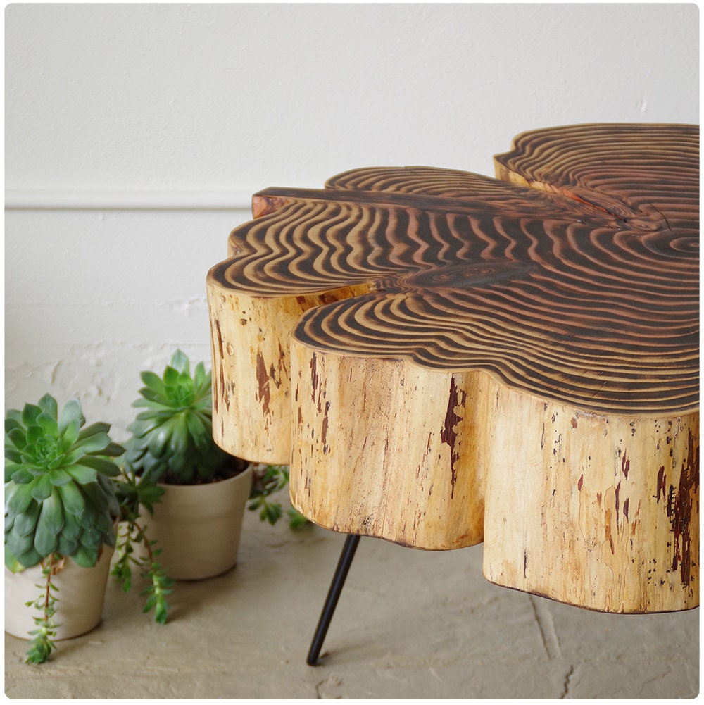 Live Edge Coffee Table Nimbus Cloud Table Natural Edge # Muebles Sequoia